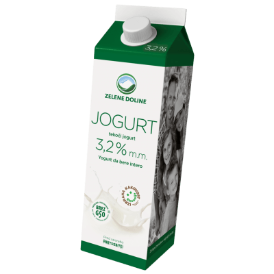 TEKOČI JOGURT, PP, 3,2% MM, 1000G